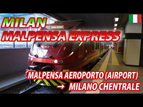 MILAN MALPENSA EXPRESS for Milano Centrale (Passenger's View