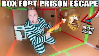 24 HOUR BOX FORT PRISON ESCAPE ROOM!! 📦🚔 Secret ROOM FOUND & Calling Carter Sharer