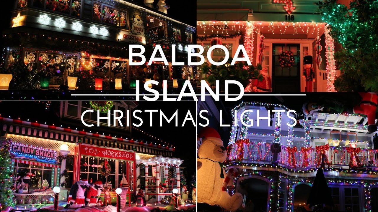 balboa island christmas lights youtube