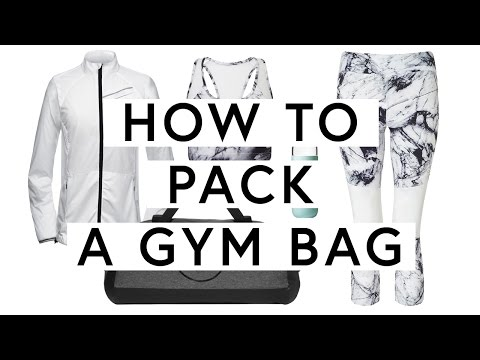 How To Pack A Gym Bag   The Zoe Report by Rachel Zoe