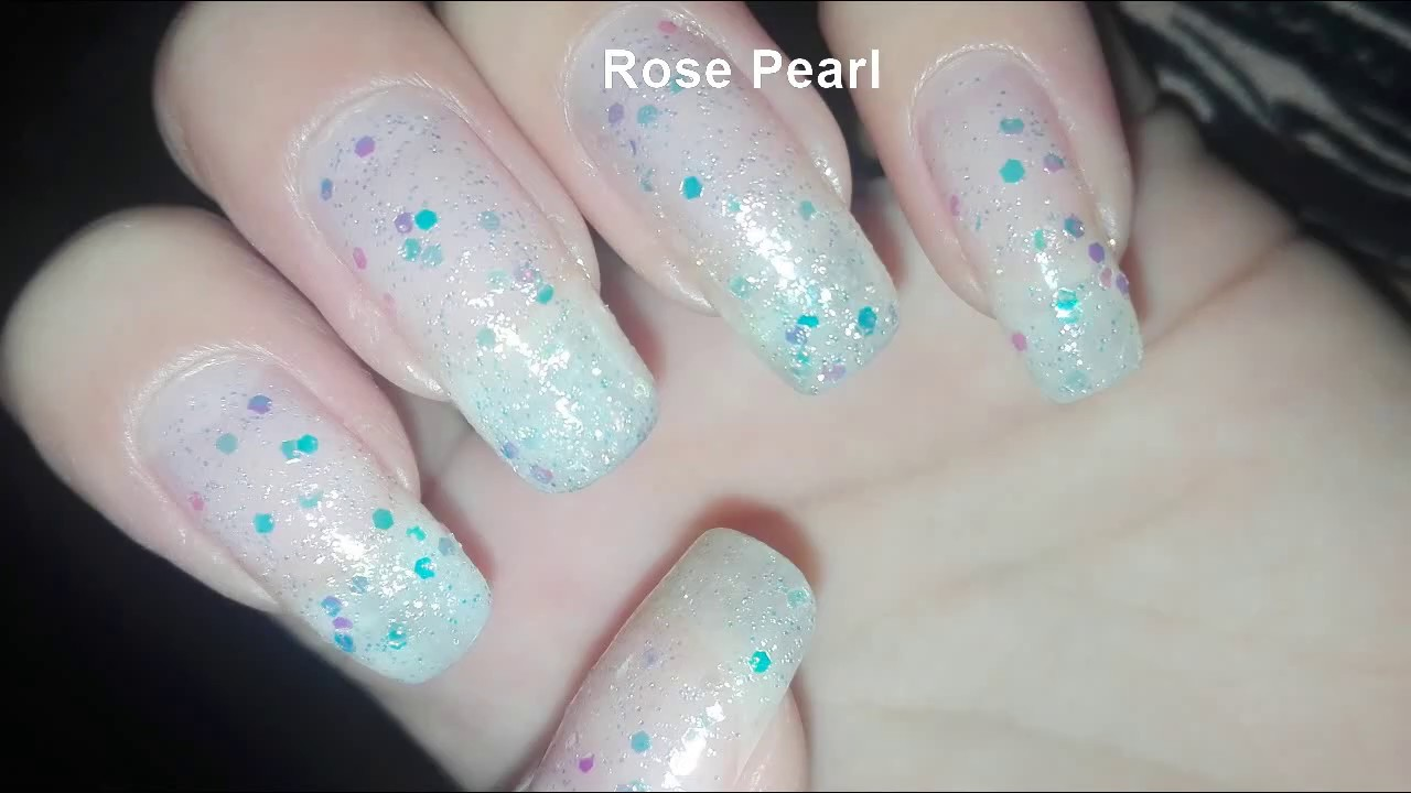 Iridescent Nail Polish, Winter Nails, Iridescent Glitter Nails Tutorial