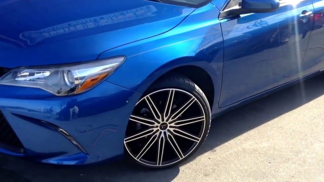 "2018 Custom Toyota Camry >> 2017 Toyota Camry siiting on 20"" Cavallo CLV-10 wheels and Lexani 225/35-20 tires. - YouTube"