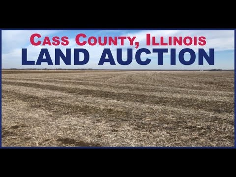 Farm Land Sold on Cass County, Illinois Auction $13,200 Per Acre 4/12/18