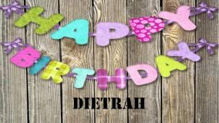 Dietrah   wishes Mensajes
