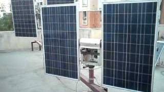 double axis solar panel tracker 250w x 2 500w from cine projectors