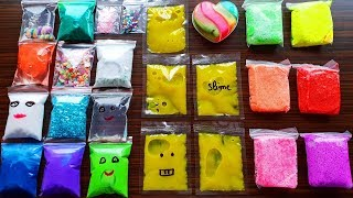Making Slime With Bags Store Bought Slime And Floam