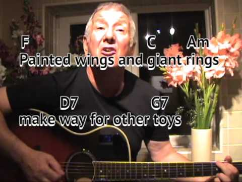 Puff The Magic Dragon - cover - kids song - easy chords guitar ...