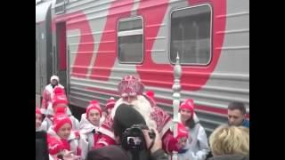 Дед Мороз из Великого Устюга приехал на КМВ(Загадывайте желание!!! Видео: СКФО.ру., 2014-11-30T07:38:22.000Z)