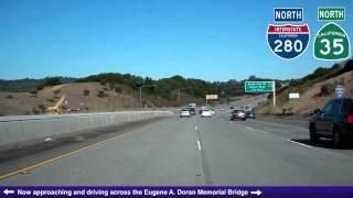 I-280 North (CA), Mile 20-43, Junipero Serra Freeway