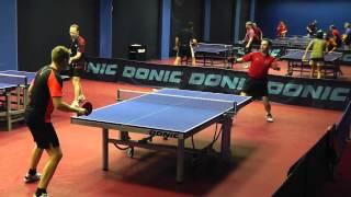 настольный теннис - испуганная подрезка :)