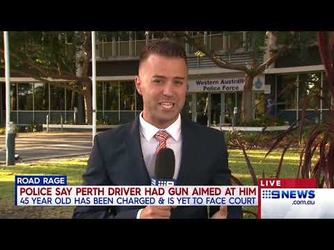 Driver allegedly threatened with a gun | 9 News Perth