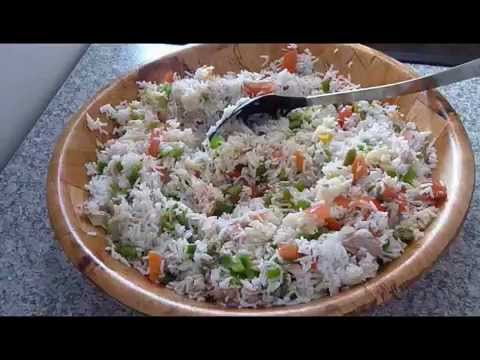 Salade de riz tunisienne cuisine tunisienne youtube for Cuisine tunisienne