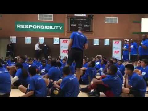 A.C. Green participates in Richmond youth basketball camp