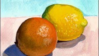 Gouache Citrus Speed-Painting