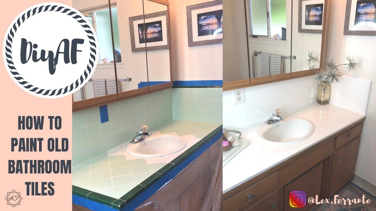 How To Paint Old Bathroom Tiles Diyaf
