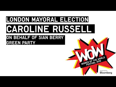 London Mayoral Election - Caroline Russell, Green Party, at WOW 2016