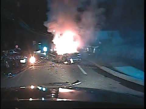 VIDEO of the moments after the fiery crash in Glen Rock.