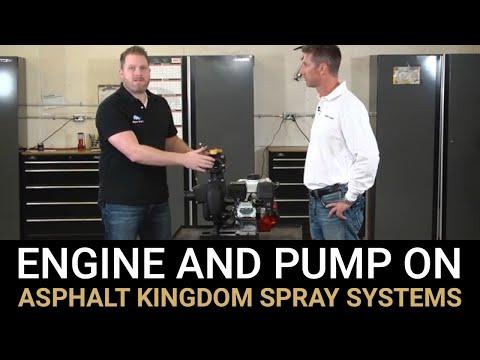 Engine And Pump On Asphalt Kingdom Spray Systems