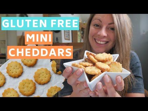 GLUTEN FREE MINI CHEDDARS | EASY GLUTEN FREE CHEESY RITZ CRACKERS