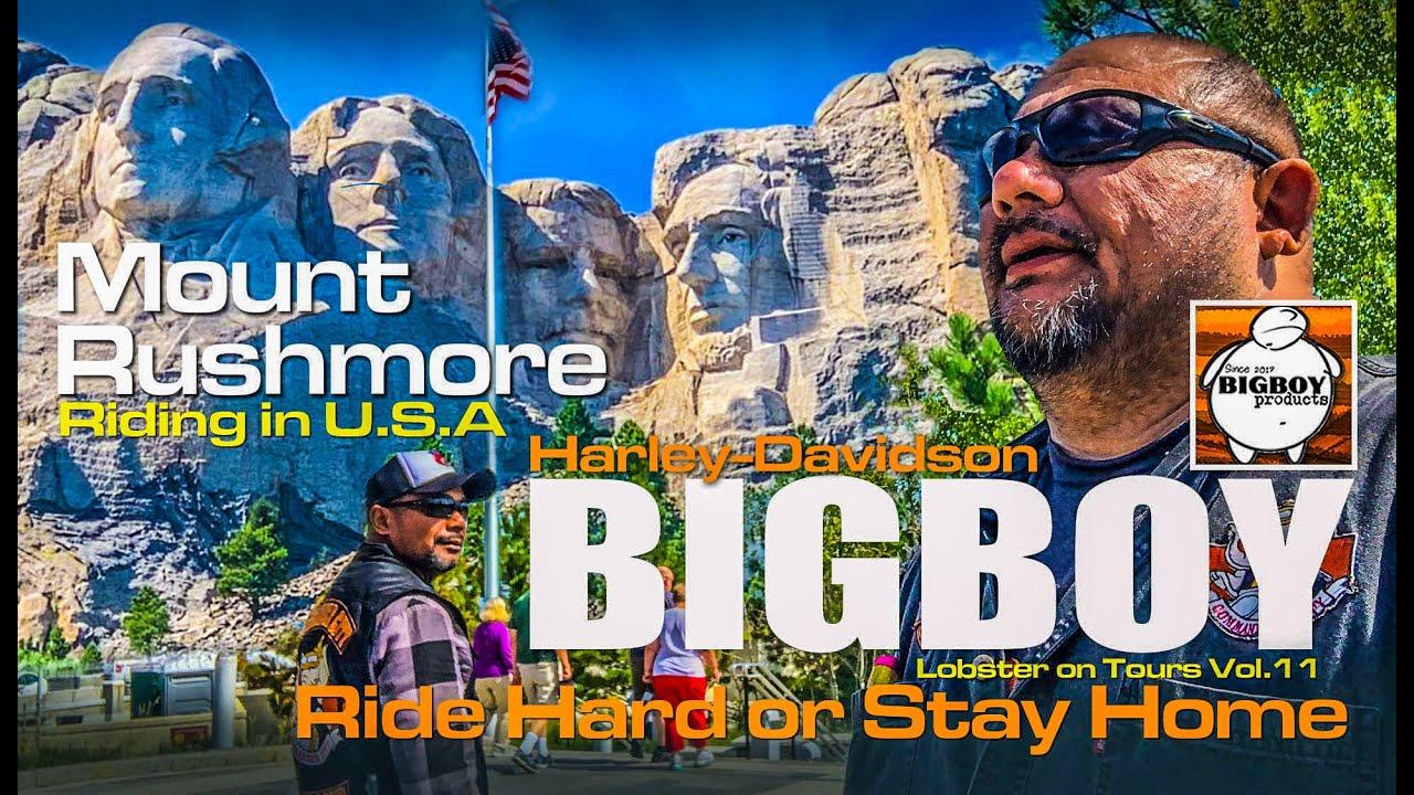 ขี่ Harley-Davidson ขึ้นภูผาหินหน้าประธานธิปดี Mount Rushmore ใน ...