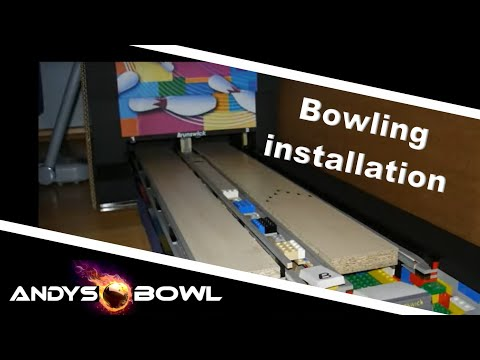 Installing Mini Lego Bowling Alley - YouTube