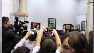 Выставка рисунков кошек музей Островского 2013