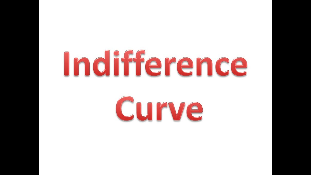 indifference curve meaning