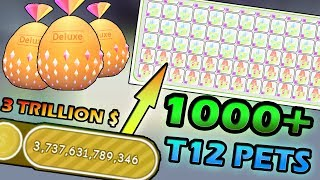 OPENING 1000+ T12 PETS ( TIER 12 )!!! - Roblox Pet simulator