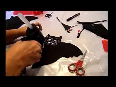 DIY:KINDERLEICHT- Beleuchtete FLEDERMAUS DEKO  basteln, Kinder Bastel-Tipp