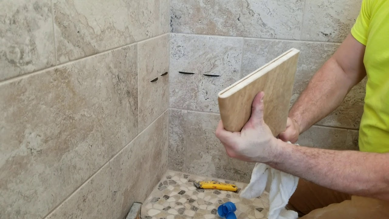 How To Install Corner Shelf In Shower   Super easy DIY Shower