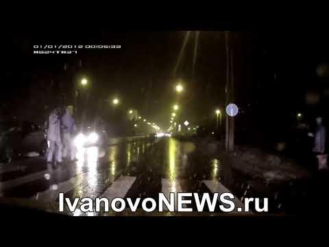 В Иванове сбитый пешеход набросился на машину
