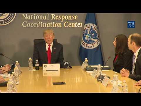 President Trump Receives a FEMA Briefing on Hurricane Season