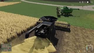 Żniwa na 2 Ogromne Kombajny E35 | Farming Simulator 19