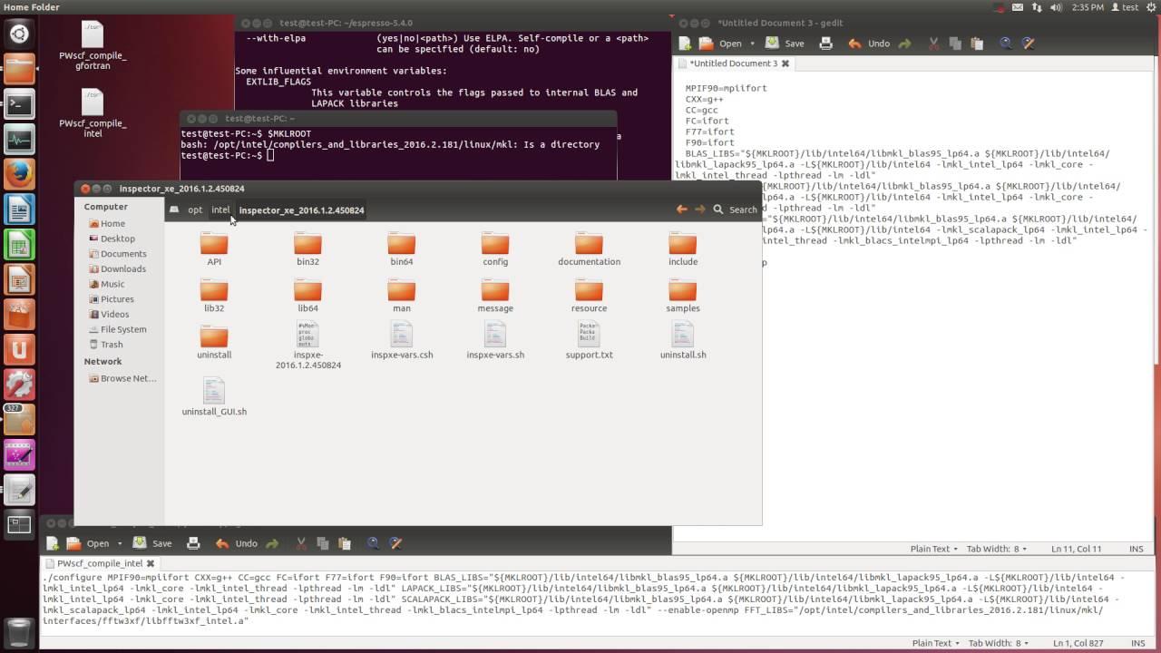 PWscf compile (intel, intelmpi, silent)