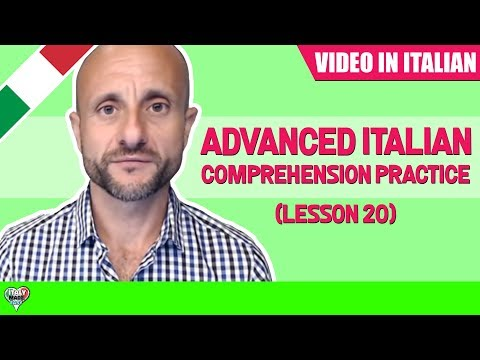 Practice and Learn Advanced Italian Conversation and Comprehension: Learn Italian Online LIVE [IT]