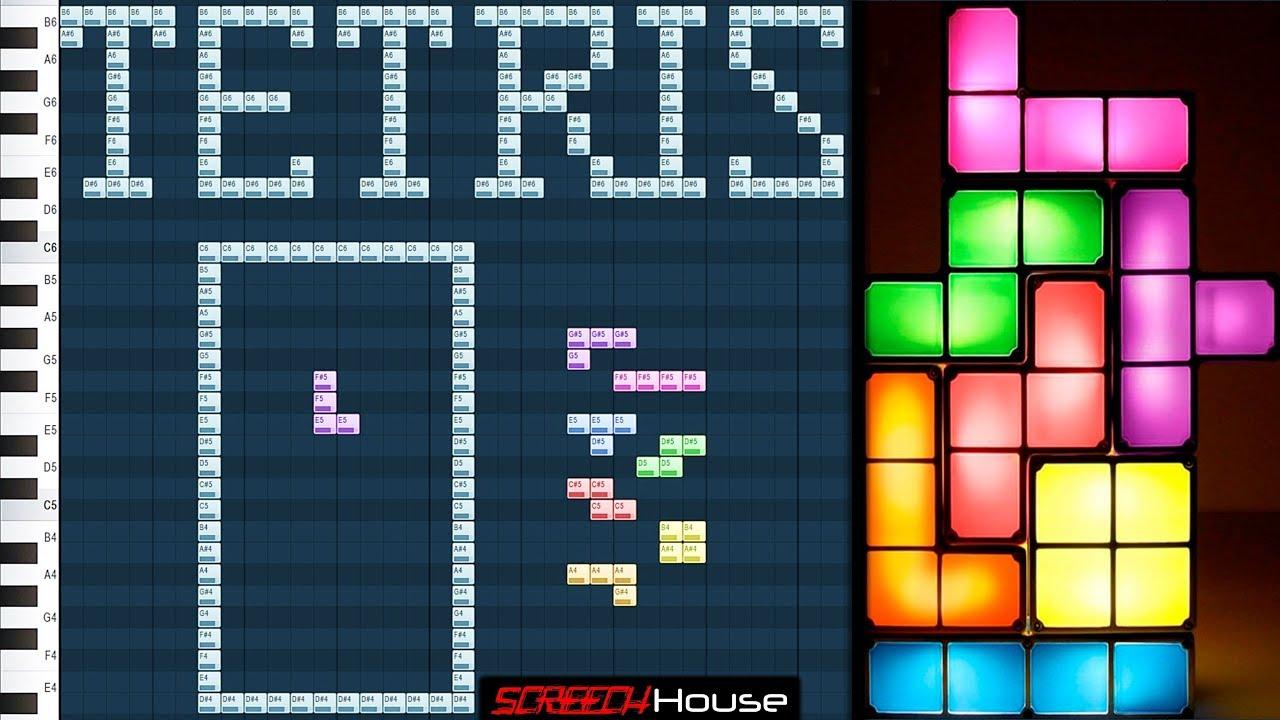 PLAYING TETRIS FL STUDIO   How to Play Tetris on Piano Roll