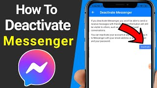 How To Deactivate Your Facebook Messenger - 2021 | How to Deactivate Messenger