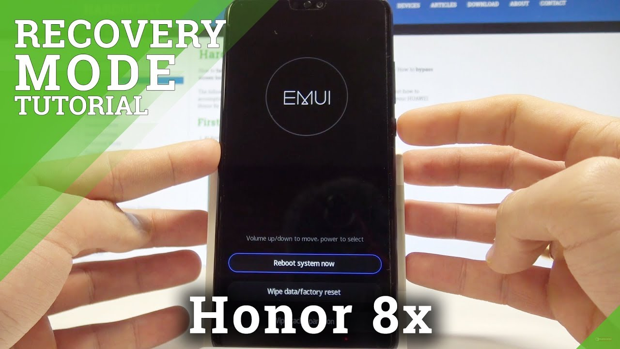 How to Enter EMUI Recovery Mode on Honor 8x - HUAWEI Recovery Menu