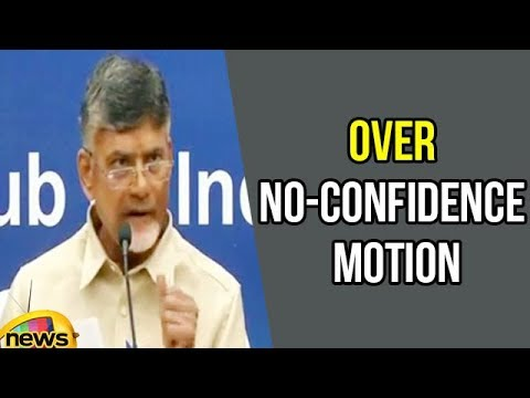 CM Chandrababu speaks to Media over No-Confidence Motion in Parliament | Mango News