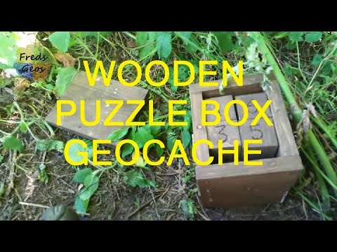 Great Little Wooden Puzzle Box Geocache