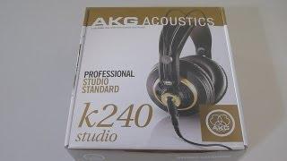 aKG K240 Studio Headphones Unboxing