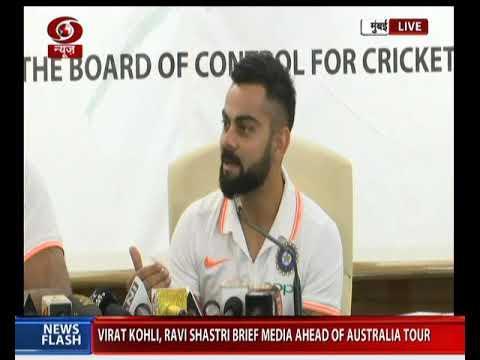 Virat Kohli & Ravi Shastri brief media ahead of Australia tour