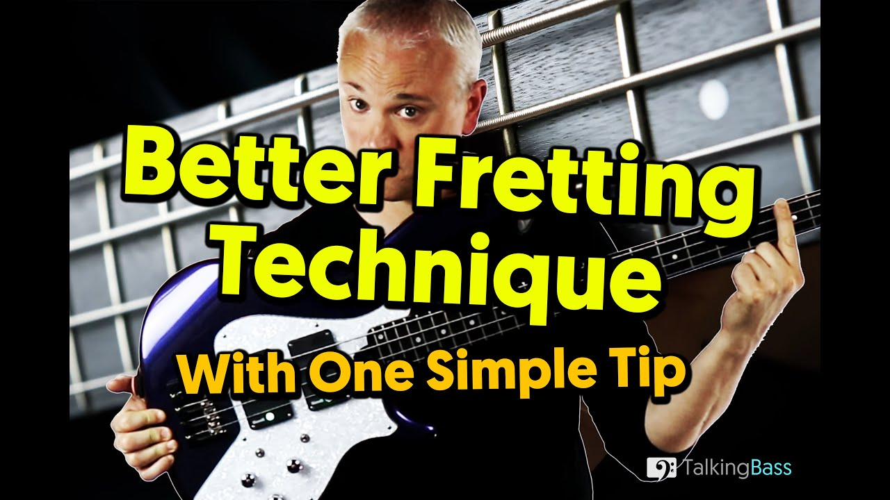 Improve Your Fretting Hand Technique With This Simple Tip (Beginner Bass Guitar)