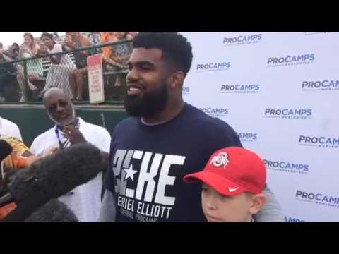 Ezekiel Elliott Football Camp 2017