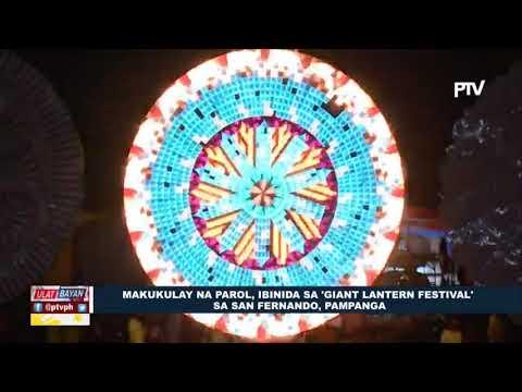 Makukulay na parol, ibinida sa 'Giant Lantern Festival' sa San Fernando, Pampanga