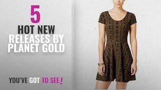 Hot New Planet Gold Women Clothing [2018]: Planet Gold Womens Aztec Fit & Flare Dress kalamatablack