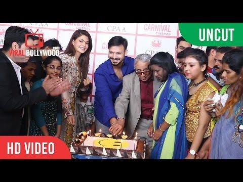 UNCUT - Vivek Oberoi Birthday Celebration With cancer patients And Jacqueline Fernandez