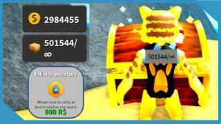 Buying the Infinite Bag and Making Millions - Roblox Treasure Hunt Simulator