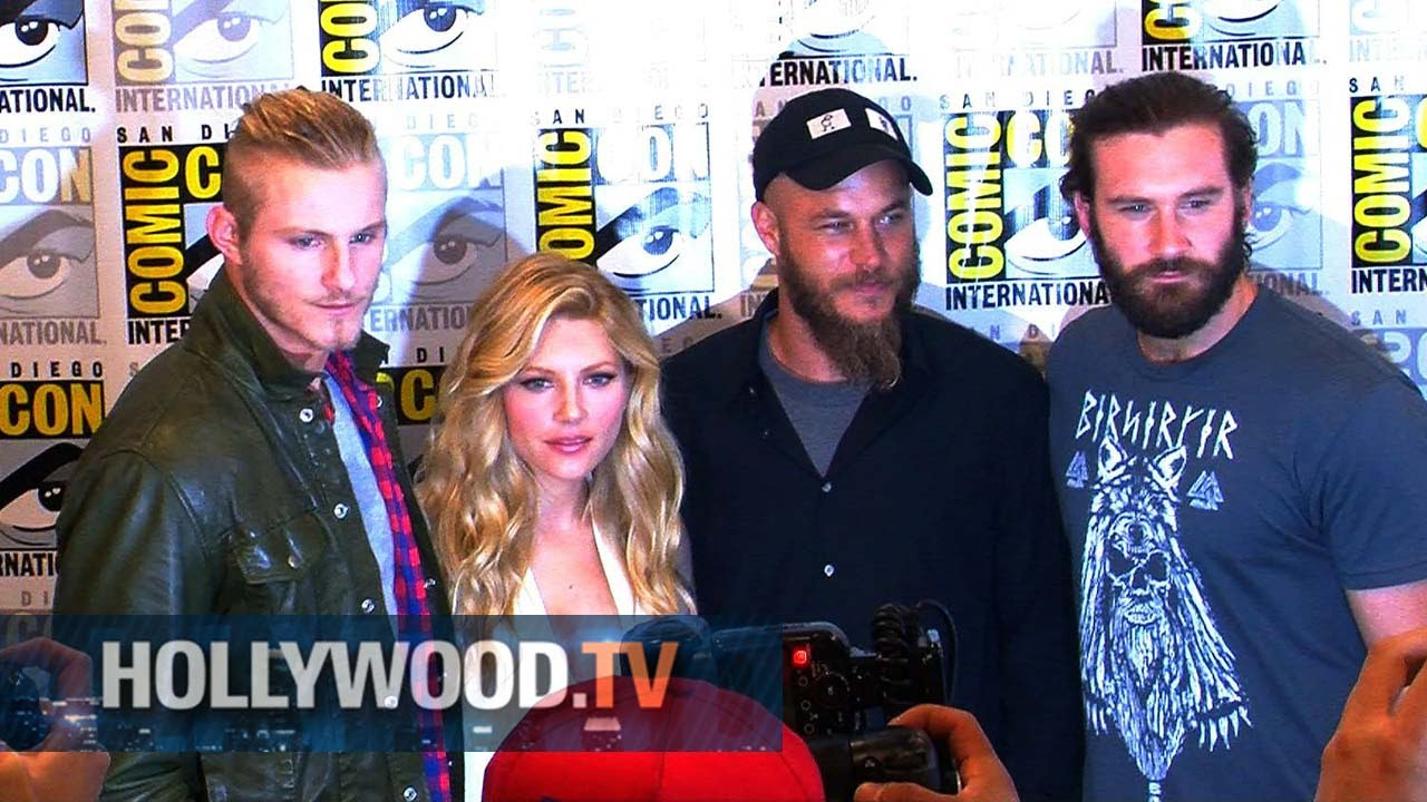 The Cast of Vikings raid Comic-con - Hollywood TV