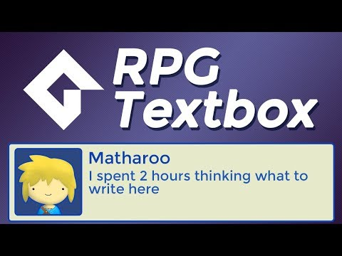 RPG Textbox In GameMaker Studio 2   Tutorial